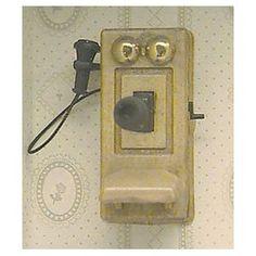 Miniature vintage telephone (image)
