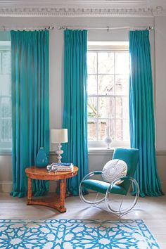 Turquoise living rooms living room grey and turquoise on - Turquoise curtains for living room ...