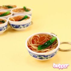 Chinese Abalone Noodles Keychain - Small - Mobile Accessories | Blippo.com - Japan & Kawaii Shop