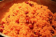 Puerto rican rice and beans 3 cups rice 1 can of red beans-drained 2 cups of water 1 tbsp of salt 3 tbsp of oil 3 tbsp sofrito sauce 4 ounces tomato sauce 1 Goya Sazon Packet-Coriander and Annatto 1 Goya Chicken Bouillon Packet Rice Recipes, Side Dish Recipes, Mexican Food Recipes, Cooking Recipes, Ethnic Recipes, Comida Latina, Puerto Rican Recipes, Arroz Con Pollo, Appetizers