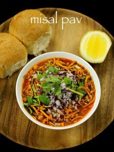 misal pav recipe, mumbai misal pav, usal - misal pav recipe with step by step photo/video recipe. it is spicy sprouts curry served with indain pav - farsan