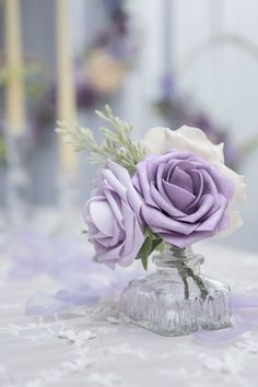 Light Purple Wedding, Lilac Wedding, Diy Wedding Bouquet, Floral Wedding, Wedding Flowers, Dream Wedding, Wedding Card, Purple Flower Centerpieces, Bridal Shower Centerpieces