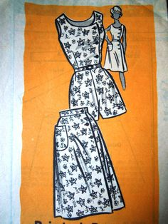 1960s Marian Martin Mail Order 9487 sewing pattern Playsuit and skirt - bust 36 inches UK Seller