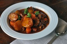 Racheal Ray's Irish Beef Stew with Guinness - I have made this several times. Easy to make and very flavorful!