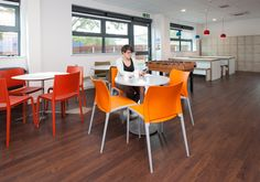 Interaction selected and used furniture that would reflect clients friendly & down to earth vibe. Including a football table in the office kitchen area. Designed and fit out for Magna Housing Group, Dorset, UK.