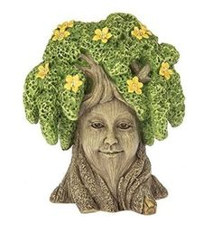 Tree is the perfect tree to dwell in your fairy garden. Warm and comforting, she watches and sees all. You will always feel at home in the garden with this kind gal around! Flowers For Mom, Yellow Flowers, Fairy Fountain, Fairy Garden Houses, Fairies Garden, Fairy Statues, Fairy Furniture, Miniature Fairy Gardens, Miniature Dollhouse