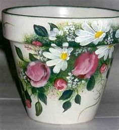 Image detail for -Handpainted By Nina TERRA COTTA POTS