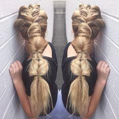 B R A I D  P A R A D E | #loving this alley shot of this INFINITY BUBBLE BRAID using the @samvillahair #textureiron and @kenraprofessional #hairspray #color by @alix_maya #braid #braids #braidedhair #braidedupdo #crimpedhair #braidsonbraids #fishtail #infinitybraid #modernsalon #americansalon #btcpics #behindthechair #samvilla #kenra #taotam #unicorntribe @american_salon @behindthechair_com @theunicorntribe @modernsalon @samvillahair @kenraprofessional @stylistshopconnect…