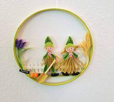 NEU Quilling Gartenzwerge Preis 15 € Durchmesser 13,7 cm Quilling, Dream Catcher, Home Decor, Garden Gnomes, Random Stuff, Sculptures, Canvas, Bedspreads, Dreamcatchers