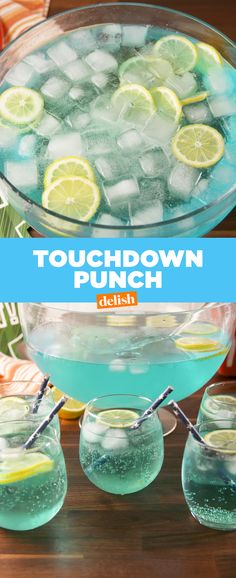 Celebrate The Big Game With Touchdown Punch! Celebrate The Big Game With Touchdown Punch! Alcoholic Punch Recipes, Easy Punch Recipes, Alcohol Drink Recipes, Adult Punch Recipes, Alcoholic Shots, Alcoholic Desserts, Summer Drinks, Fun Drinks, Mixed Drinks