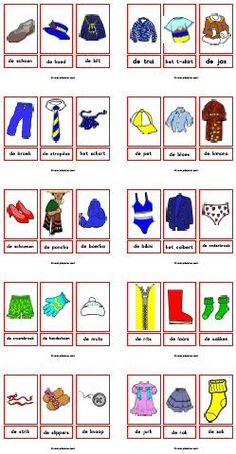 Woordkaarten: kledij
