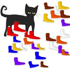 Pete the cat, he's famous at Head Start. This would be a basic color recognition activity for younger pre-school aged children in a small group setting.