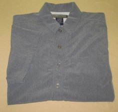 Men's ExOfficio Adventure  Hiking Fishing Shirt  Sz  L Large -  Gray #ExOfficio #ButtonFront