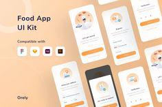 Restaurant & Food Mobile App by DimoGraphic on Envato Elements Restaurant Web, Restaurant Recipes, Splash Screen, Application Design, Order Food, Mobile App Design, Landing Page Design, Ui Kit, Clean Design
