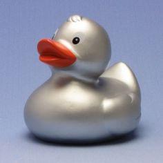 Badeente Silvana Silber auf Duckshop.de kaufen