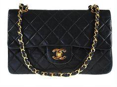 Vintage Black Chanel Classsic Shoulder Flap Bag by gailparker4, $1835.00