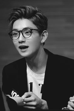 Joshua looks so good with glasses - but then again... they all do...