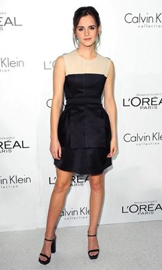 Look of the day | Emma Watson in a Calvin Klein dress at an awards ceremony in LA | InStyle UK