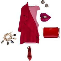 """All colors of red"" by ncherkashova on Polyvore"