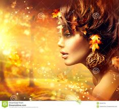 Autumn woman fantasy fashion portrait stock image - image of makeup Lush Canada, African Colors, Prayer For Today, Fall Portraits, Editorial Photography, Photo Art, Fantasy Art, Royalty Free Stock Photos, Illusions