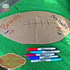 #RubbermaidSharpie #ad Kid friendly super bowl party ideas