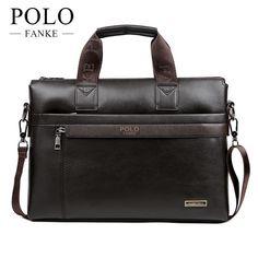 Details about FANKE POLO Men Casual Briefcase Business Shoulder Bag Leather  Messenger Bags Com f39d9bf3008f5