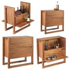 Modern home bar design ideas Folding Furniture, Bar Furniture, Furniture Design, Office Furniture, Modern Home Bar, Drinks Cabinet, Wine Cabinets, Bars For Home, Mini Bar At Home
