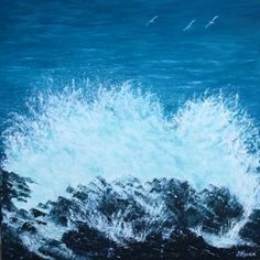 View larger image Oil On Canvas, Larger, Waves, Outdoor, Image, Water, Painted Canvas, Store, Ocean Waves