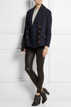 Burberry Prorsum|Wool and silk-blend coat|NET-A-PORTER.COM