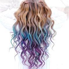 Blue purple omber