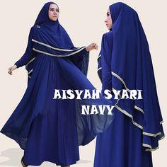 Gamis Syar'i Modern AISYAH NAVY - http://warongmuslim.com/gamis-syari/gamis-syari-modern-aisyah-navy/