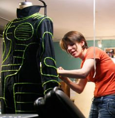 Picture of Light Up Costume This brief tutorial will walk you through how to make a light up costume using electroluminescent wire (el wire).