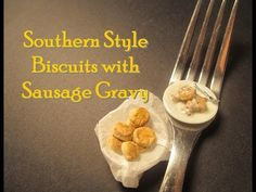Polymer Clay Dollhouse Miniature Southern Style Biscuits and Sausage Gravy in Polymer Clay - YouTube