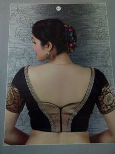 Blouse back neck design Patch Work Blouse Designs, Simple Blouse Designs, Saree Blouse Neck Designs, Stylish Blouse Design, Designer Blouse Patterns, Blouse Models, Beautiful Blouses, Couture, Indian Style