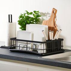 INDUSTRIA Égouttoir pour vaisselle noir H 10 x Larg. 40 x P 29 cm