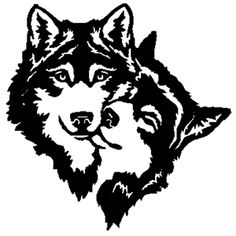 Two Wolves Cuddling Metal Sculpture Wall by Tribal Wolf Tattoo, Small Wolf Tattoo, Wolf Tattoo Design, Wolf Tattoos, Wolf Stencil, Stencil Art, Wood Burning Stencils, Wood Burning Patterns, Drawing Sketches