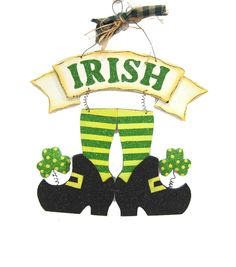 Kick-start your celebrations by decorating the focal wall with the St. Patricks Day Irish Legs Wall Decor. The traditional green and yellow hues reverberate the spirit of this fun-filled festival, whi