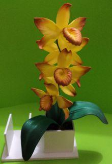 Herthal art's:  orquídea amarela mesclada de e.v.a, Herthal art's...