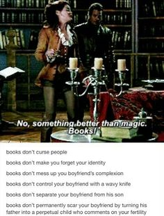 I don't know whether to put this under my OUAT board or my bibliophile board