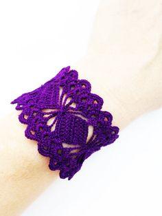 PDF Tutorial  Crochet Pattern  Lace  Cuff by accessoriesbynez, $5.00