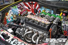 EK Civic. This is a killer way to spruce up the engine bay. Stylin'