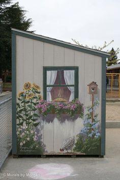 Garden shed mural   GROWING GARDENS   Pinterest