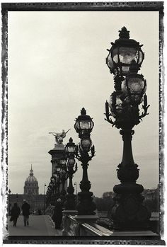Pont Alexandre III- The most wonderful bridge in the world! Photography Essentials, City Photography, Beautiful Paris, Beautiful World, Paris City, Paris Street, Pont Alexandre Iii, Black And White City, Street Lamp