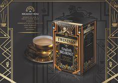 Twinings Tea Anniversary Packaging  - Great Gatsby era