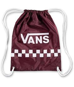 Show a little Vans love with the convenient styling of the Benched cinch bag  in port 80b58c2499192