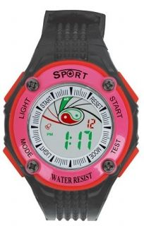 LED Digital Watch with Calendar, 30m Water Resistance Pink Item No. : 55554  Price : $4.99  Category : Sport Watches