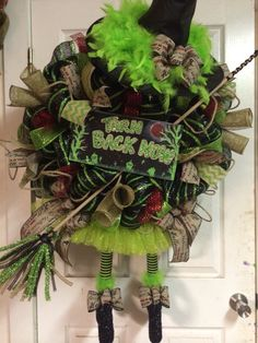 Halloween Witch Wreath by HighMaintenanceDes on Etsy, $200.00
