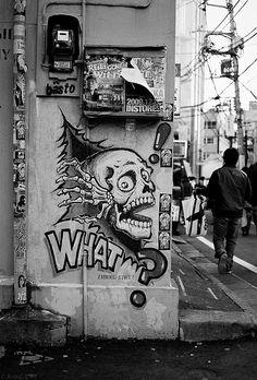 Paz, Amor e Skate #Art #StreetArt #BlackandWhite