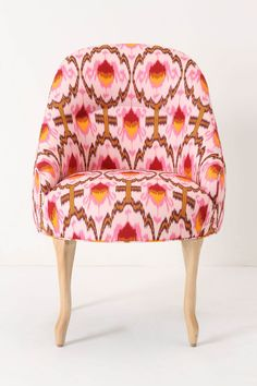 Raspberry Ikat Pull-Up Chair - Anthropologie.com