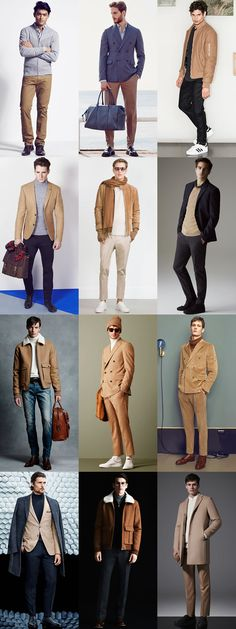 Men's Camel Clothing Outfit Inspiration Lookbook